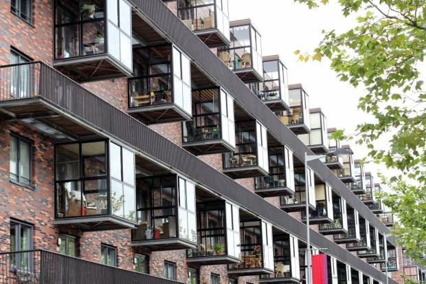 Rotterdam'da kış apartmanda kış bahçeleri
